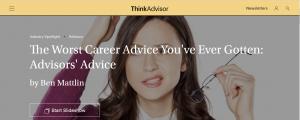 The Worst Career Advice You've Ever Gotten: Advisors' Advice